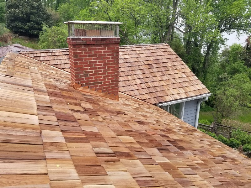 Tracys Landing Roof Replacement Cedar Shake Roof